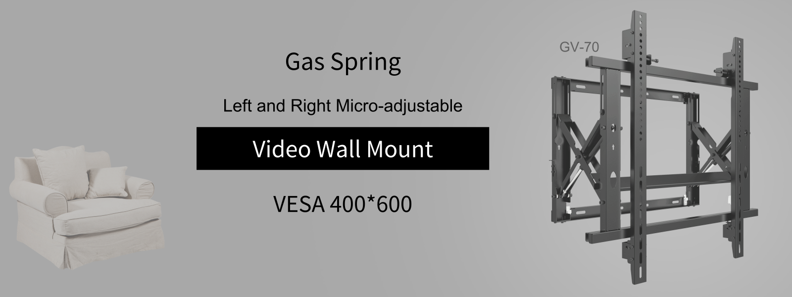 最新GV-70-2019.01.23GAS SPRING VIDEO WALL MOUNT