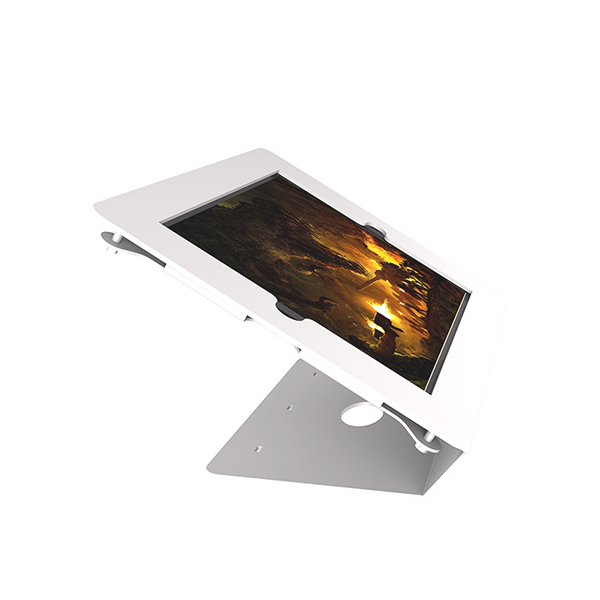 Universal fixed 30-degree tilt tablet stand