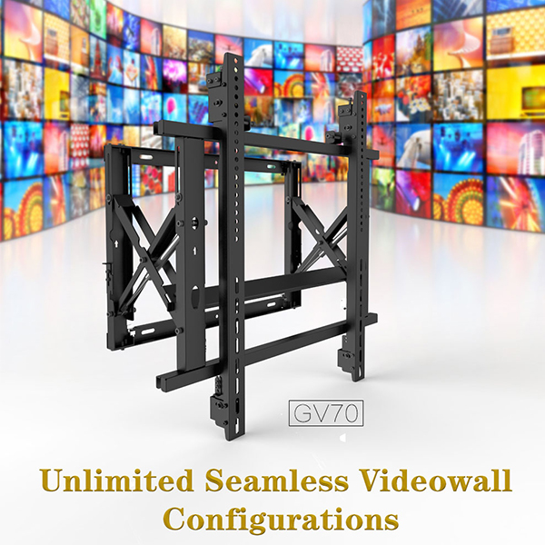unlimited seamless video wall mount configurations
